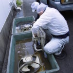 写真:ダクトファンの清掃